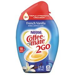 2GO Liquid Creamer, French Vanilla, 3 oz Squeeze Bottle, 8/Box