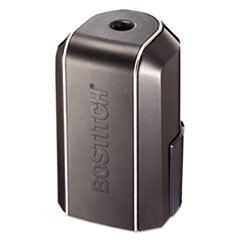 "Vertical Battery Pencil Sharpener, Battery-Powered, 3"" x 3"" x 5.13"", Black"