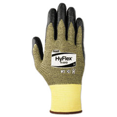 HyFlex Foam Cut-Resistant Gloves, Yellow/Black, Size 9