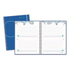 Planning Notebook, 8 1/2 x 11, Fashionable Blue Cover, 2016