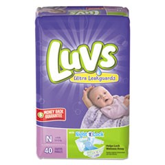 1Diapers with Leakguard, Newborn: 4 lbs to 10 lbs, 40/Pack, 4 Packs/Carton