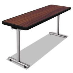aero Mobile Folding Table, 72 x 24 x 29, Walnut