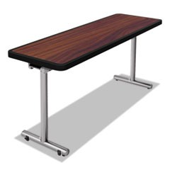 aero Mobile Folding Table, 60 x 24 x 29, Walnut