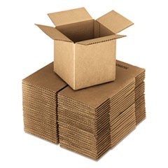 Brown Corrugated - Cubed Fixed-Depth Shipping Boxes, 20l x 20w x 20h, 10/Bundle