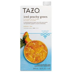 Iced Tea Concentrate, Iced Peachy Green, 32 oz Tetra Pak, 6/Carton