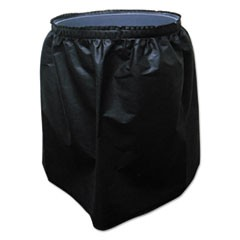 Trash Can Skirt for 44 Gallon Round Receptacle, Black