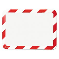 High Visibility Safety Frame Display Pocket-Magnet Back, 10 1/4 x 14 1/2, Red/WH
