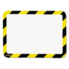 High Visibility Safety Frame Display Pocket-Magnet Back, 10 1/4 x 14 1/2, YW/BK