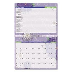 Paper Flowers Monthly Desk/Wall Calendar, 11 x 8 1/2, 2016