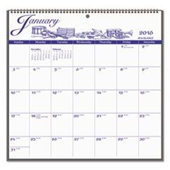 12-Month Illustrator�s Edition Wall Calendar, 12 x 11 3/4, Illustrations, 2016