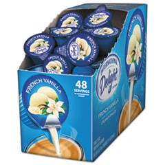 Flavored Liquid Non-Dairy Coffee Creamer, French Vanilla, 0.4375 oz Cup, 48/Box