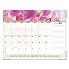 Floral Panoramic Desk Pad, 22 x 17, Floral, 2016