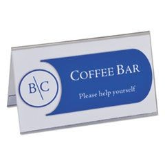 "Tent Card Holders, 2"" x 3 1/2"", Rigid Heavyweight Clear Plastic, 40/Box"