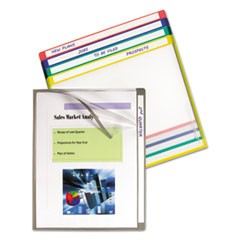 Write-On Project Folders, Letter, Assorted Colors, 25/BX