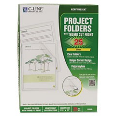Specialty Project Folders, Letter Size, Clear, 25/Box