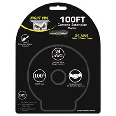 BNC Video/Power Camera Extension Cable, 100 ft