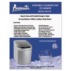 Portable/Countertop Ice Maker, Platinum, 10""