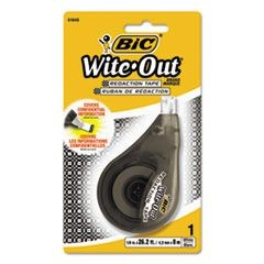 "Wite-Out Redaction Tape, Non-Refillable, 1/6"" x 314"""