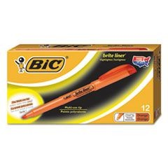 Brite Liner Highlighter, Chisel Tip, Fluorescent Orange Ink, Dozen