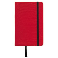 Casebound Hardcover Notebook, Legal Rule, Red Cover, 3 1/2 x 5 1/2, 71 Sheets/Pd