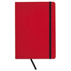 Casebound Hardcover Notebook, Legal Rule, Red Cover, 5 3/4 x 8 1/4, 71 Sheets/Pd