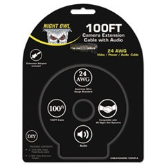 BNC Video/Power/Audio Camera Extension Cable, 100 ft