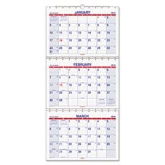 Move-A-Page Three-Month Wall Calendar, 12 x 26 1/2, Move-A-Page, 2015-2017