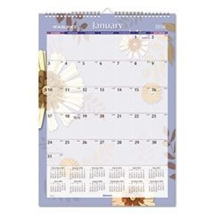 Paper Flowers Monthly Wall Calendar, 12 x 17, 2016