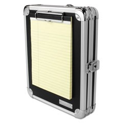 Locking Storage Clipboard, 2 x 9 3/4 x 12 3/4, Black/Chrome