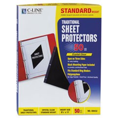 Traditional Polypropylene Sheet Protector, Standard Weight, 11 x 8 1/2, 50/BX
