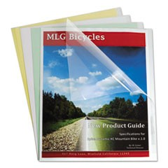Report Covers with Binding Bars, Economy Vinyl, Clear, 8 1/2 x 11, 100/BX