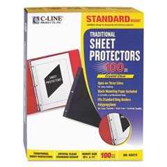 Traditional Polypropylene Sheet Protector, Standard Weight, 11 x 8 1/2, 100/BX