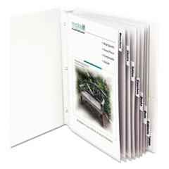 "Sheet Protectors with Index Tabs, Clear Tabs, 2"", 11 x 8 1/2, 8/ST"