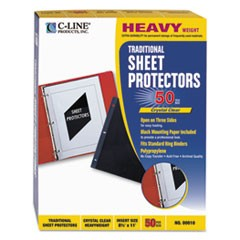 Traditional Polypropylene Sheet Protector, Heavyweight, 11 x 8 1/2, 50/BX
