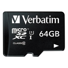 microSDXC Memory Card with SD Adapter, Class 10, 64GB