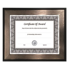 Director Series Document and Photo Frame, 8 1/2 x 11, Black/Pewter Frame