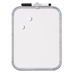 Magnetic Dry Erase Board, 11 x 14, White Plastic Frame