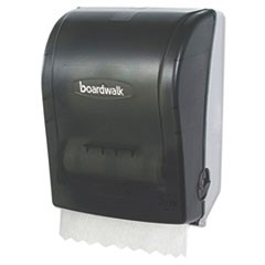 Hands Free Mechanical Towel Dispenser, 9 3/4 x 16 7/8 x 12 3/8, Smoke Black