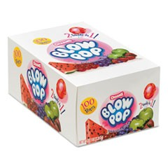 Blow Pops, 0.8 oz, Assorted Fruity Flavors, 100/Box