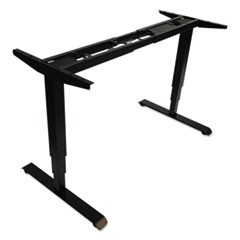 "3-Stage Electric Adjustable Table Base w/Memory Controls, 25"" to 50 3/4""H, Black"