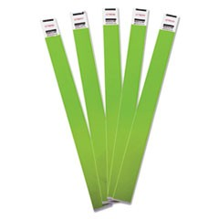 Crowd Management Wristbands, Sequentially Numbered, Green, 100/Pack