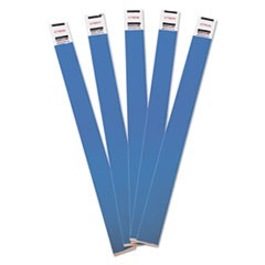 Crowd Management Wristbands, Sequentially Numbered, 9 3/4 x 3/4, Blue, 500/Pack