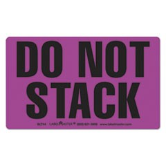 Shipping and Handling Self-Adhesive Label, 5 x 3, DO NOT STACK, 500/Roll