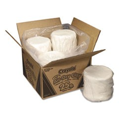 1Air-Dry Clay, White, 25lb Box