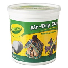 1Air-Dry Clay, White, 5 lbs