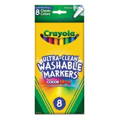Washable Markers, Fine Point, Classic Colors, 8/Pack