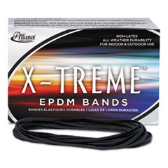 X-treme File Bands, 117B, 7 x 1/8, Black, Approx. 175 Bands/1lb Box
