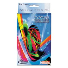 Brites Pic-Pac Rubber Bands, Blue/Orange/Yellow/Lime/Purple/Pink, 1 1/2-oz Box