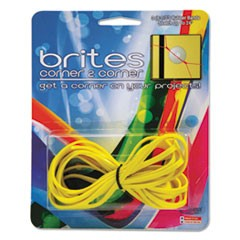 "Brites Corner-To-Corner Rubber Bands, 8 1/2"", Yellow, 3/Pack"