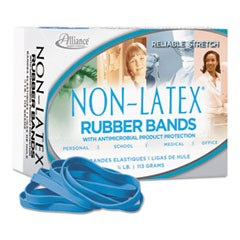 Antimicrobial Non-Latex Rubber Bands, Sz. 64, 3-1/2 x 1/4, 1/4lb Box